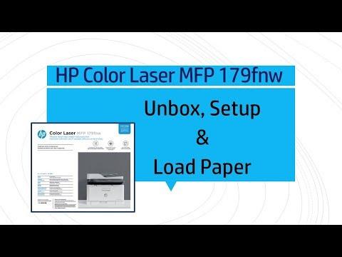 HP Color Laser MFP 179fnw printer |  Unbox, Setup, Load A4 | Letter | Legal size papers
