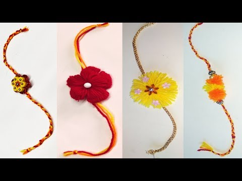 new rakhi design - new rakhi collection - rakhi making at home ideas - simple rakhi making