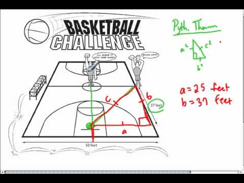 Pythagorean Theorem and Basketball - YouTube