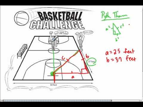 Pythagorean Theorem And Basketball Youtube