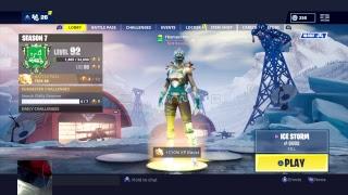 Fortnite PS4 Gameplay Live // Solo gOd 1800+ Wins // Icebringer Pickaxe Gameplay