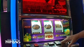 VGT SLOTS - $100 MAX BET DOUBLE JACKPOT OVER $16,000 JACKPOT RIVERWIND CASINO