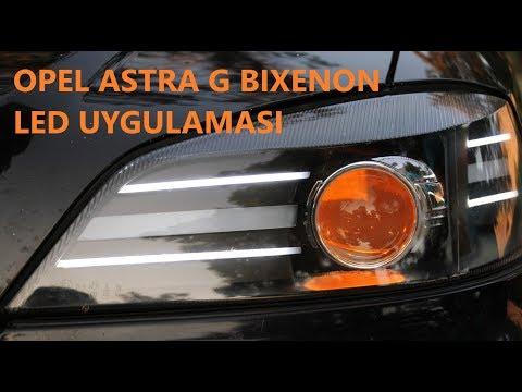 OPEL ASTRA G BIXENON & LED UYGULAMASI // ARAÇ ÜZERİNDE