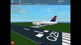 Delta Airlines flight Prince George-London-ROBLOX Flight