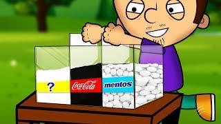 Эксперимент. Кока-Кола, Ментос и сода. Как сделать супер реакцию!