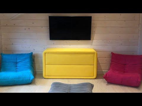 Желтый комод в детскую комнату. Мягкая мебель на заказ. Тумбы Киев.