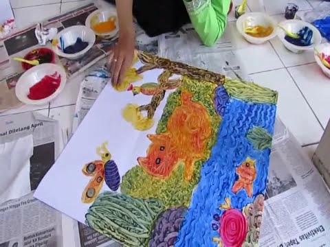 Sensansi Dan Semangat Guru Tk Dalam Lomba Finger Painting Youtube