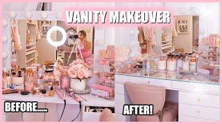 Vanity Makeover & Organizing my makeup 2020