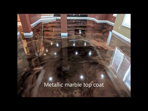 Metallic Marble Epoxy - Basement floor - Reynoldsburg, Ohio