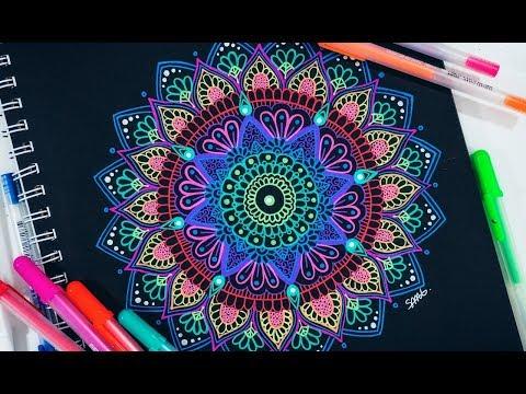 Drawing A Mandala w/ Gel Pens For Beginners | TUTORIAL
