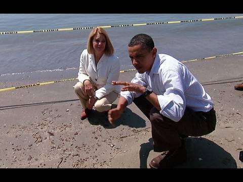 President Obama Tours Fourchon Beach, LA