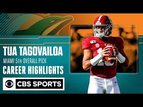 Tua Tagovailoa: Miami Dolphins 5th Overall Pick   Career Highlights    CBS Sports