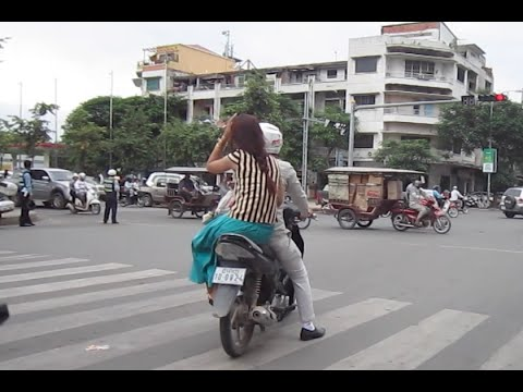 Phnom Penh city from Sisowat High School to Monivong Boulevard and Boeung Kak Road
