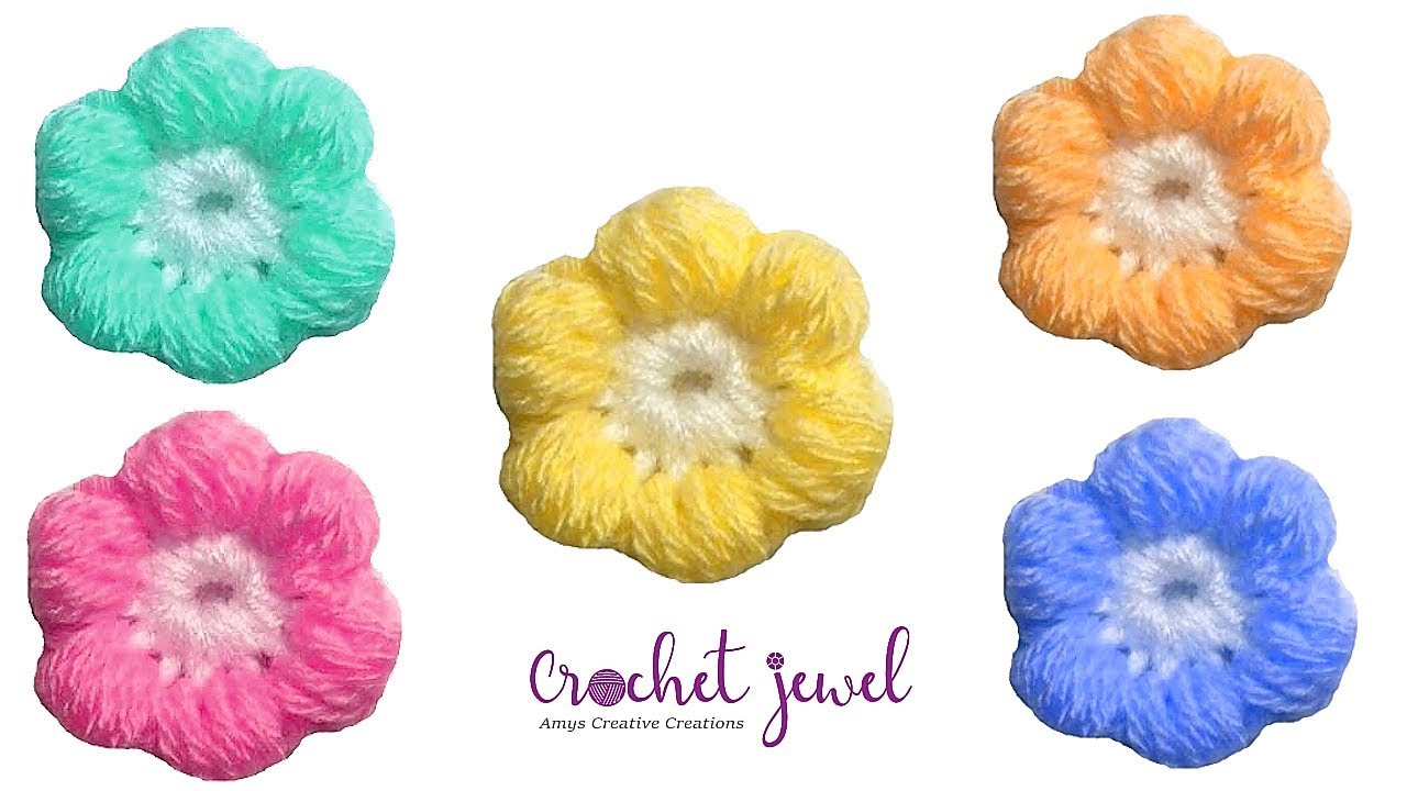 Diy crochet 6 petal puff stitch flower blanket - Crochet Puff Stitch Flower Tutorial