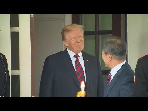 Trump welcomes South Korean president to White House