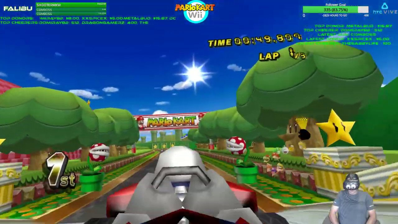 Stream Highlight: Mario Kart Wii in Virtual Reality! Dolphin VR | Cruising  through some Tracks | #2
