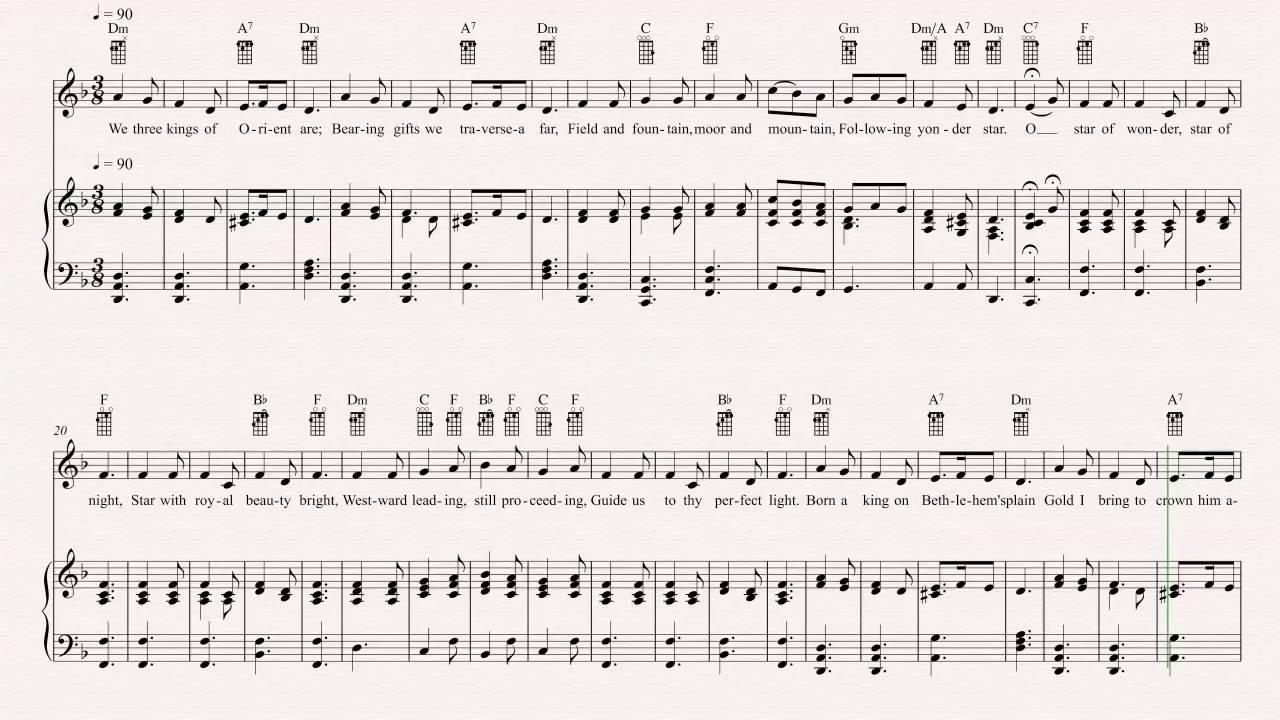 Ukulele we three kings christmas carol sheet music chords ukulele we three kings christmas carol sheet music chords vocals hexwebz Gallery