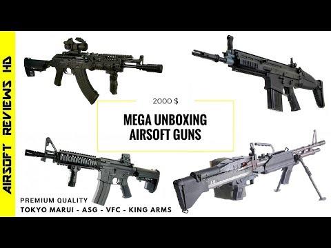 Airsoft Unboxing | 2000$ Airsoft guns | Ultra premium Assault - LMG's