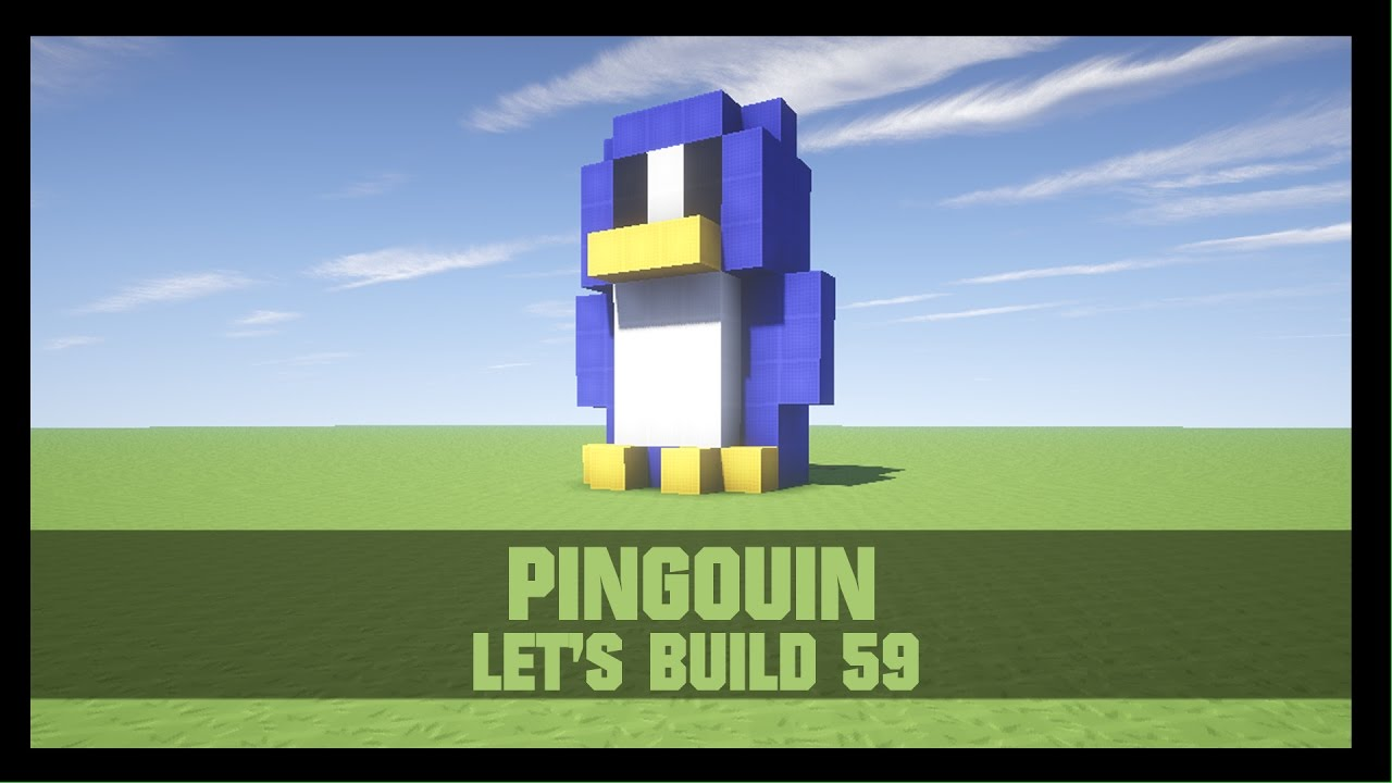 tuto comment construire un pingouin dans minecraft youtube. Black Bedroom Furniture Sets. Home Design Ideas