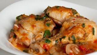 Чахохбили из курицы по грузински с помидорами и луком