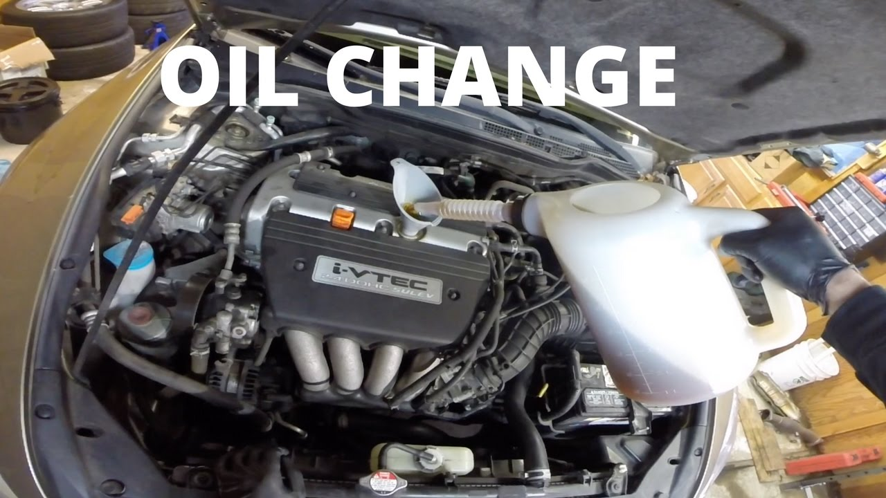 oil change honda accord sedan  gen   youtube