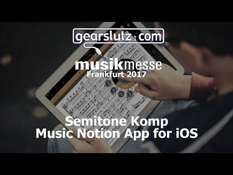 Semitone Komp Music Notation App For iOS - Gearslutz @ Musikmesse 2017