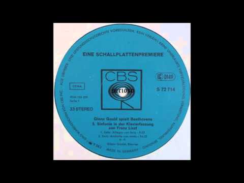 Glenn Gould Play Beethoven, Symphony No 5, 1,2mov, Arr Frantz Liszt
