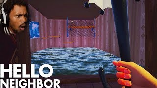 WE CAN GO UNDERWATER NOW!? NEW BASEMENT!? | Hello Neighbor #8 (Beta 3 Update)