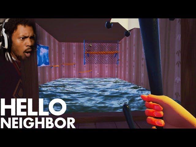 WE CAN GO UNDERWATER NOW!? NEW BASEMENT!? | Hello Neighbor #8 (Beta 3 Update)