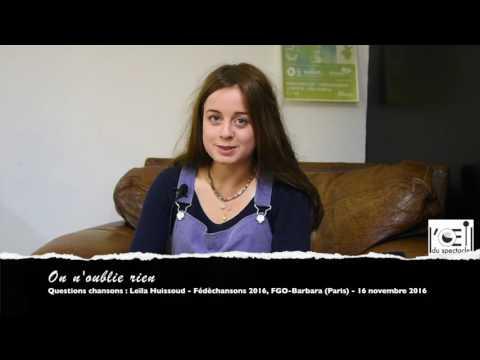L'Œil du spectacle Interview Leïla Huissoud FGO Barbara 16 novembre 2016
