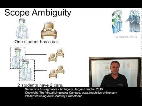 SEM131 - Ambiguity