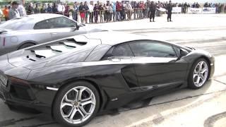 Lamborghini Aventador 700 hp vs. Nissan GTR 700 hp