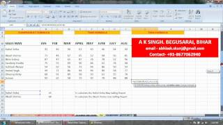 MS Excel 2007 VLOOKUP Formula in Hindi, A K Singh, Shekpura