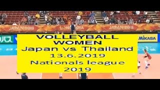 Japan vs Thailand - 13.6.2019- Volleyball Women's