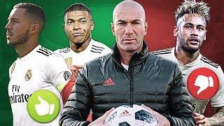 Zidane pede MBAPPÉ, HAZARD e mais 3 l NEYMAR está FORA da lista !