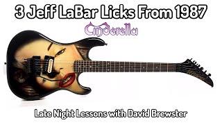 3 Jeff LaBar Licks From 1987