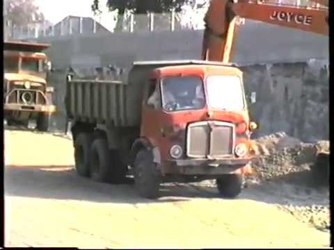 AEC Dump Trucks & Lorries A2 Eltham Relief Road Building Works 1986