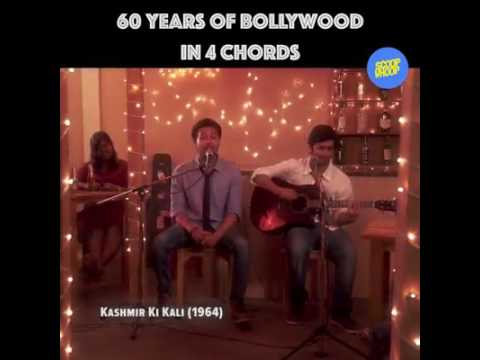Famous song 60 years of bollywood in 4 chords