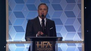 Theron wells up at Hollywood Film Awards