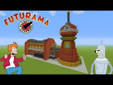 Minecraft Tutorial: How To Make The Planet Express Headquarters (Futurama)