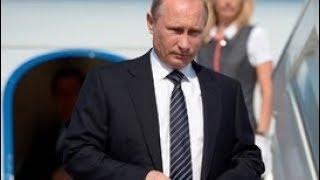 Прилет Владимира Путина во Францию. Полное видео