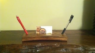 E.4 A Guy And A Stave: Wine Barrel Stave Business Card Holder