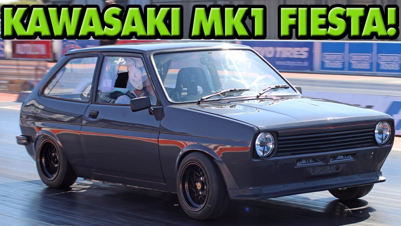 ford fiesta mk1 with a kawasaki ninja zx 12r engine youtube. Black Bedroom Furniture Sets. Home Design Ideas