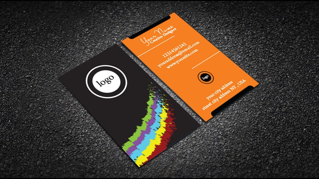 corporate business card design in illustrator free download - YouTube