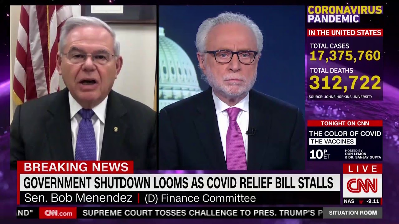 Menendez Talks Stimulus Package and Cyberattack on CNN