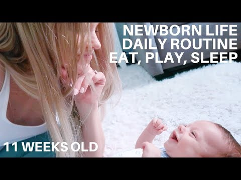 NEWBORN VLOG • 11 WEEKS OLD • DITL • DAILY ROUTINE •