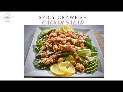Miahjay's At Home: Spicy Crawfish Caesar Salad