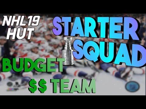 NHL 19 HUT | STARTER SQUAD -- BUDGET TEAM BUILD!!