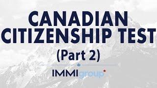 Canadian Citizenship Test - Part 2
