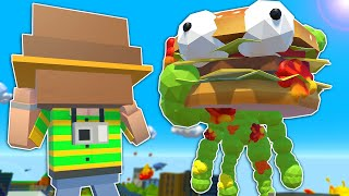 ZOMBIE BURGER MONSTER DESTROYS CITY! - Tiny Town VR Gameplay - Valve Index Virtual Reality